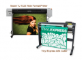 Mutoh ValueJET 1324 Large Format Color Printer ValuePrint & Cut Package